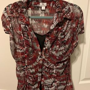 Work blouse with black cami included